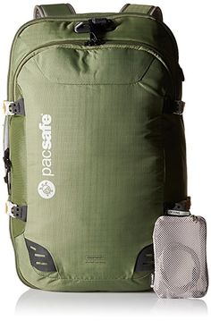 Pacsafe Venturesafe 45L GII Anti-Theft Carry-On Travel Pack, Olive/Khaki