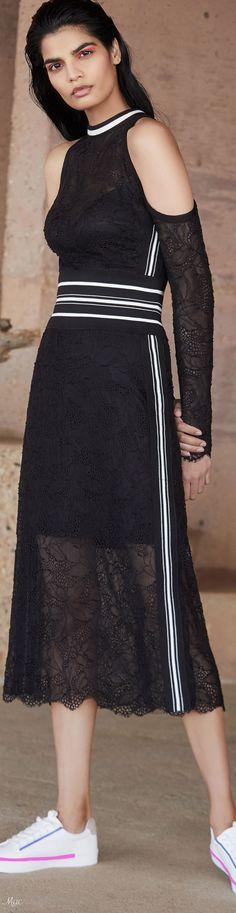 Resort 2019 Tadashi Shoji Knit Skirt, Lace Skirt, Tadashi Shoji, Retail Therapy, Spring Summer, Ralph Lauren, Style Inspiration, Couture, Black And White
