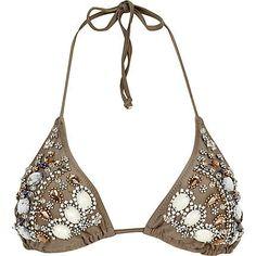 gold embellished bikini