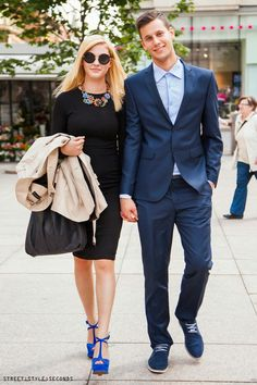 #Stylish #couple on the street of Zagreb, photo by Street Style Seconds