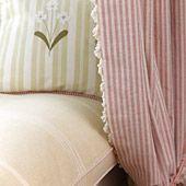 Fabric Information Pretty stripe with trim..