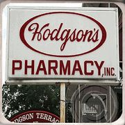 Hodgson's Pharmacy — where you can still get a huge ice cream cone for 50¢. I think.