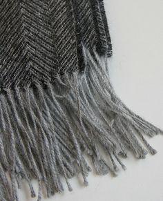 Herringbone Charcoal Throw
