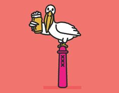 """Check out new work on my @Behance portfolio: """"Pelican Post"""" http://be.net/gallery/38466791/Pelican-Post"""