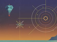 Fireworks designed by Dan Matutina. Connect with them on Dribbble; the global community for designers and creative professionals. Fireworks Design, Flat Illustration, Illustrations, Abstract Lines, 2d Art, Geometric Art, Geometry, Graphic Design, Ui Design