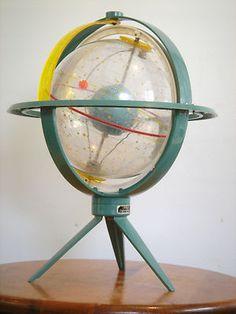 *RARE* Vtg. TORICA ASTRO GLOBE ATOMIC SPUTNIK Mid-Century MODERN 1960s (superb!)