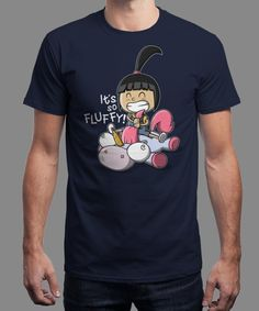 """""""It's So Fluffy!"""" is today's £8/€10/$12 tee for 24 hours only on www.Qwertee.com Pin this for a chance to win a FREE TEE this weekend. Follow us on pinterest.com/qwertee for a second! Thanks:)"""