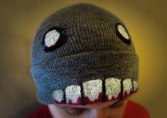 Zombie Beanie by FrightfullyFun on Etsy, $25.00