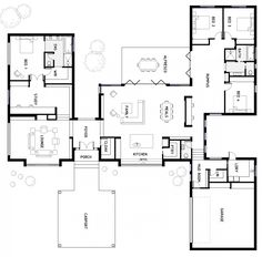 It's Floor Plan Friday today and I have this designer and spacious home to share with you. by judy Dream House Plans, Modern House Plans, Small House Plans, House Floor Plans, My Dream Home, The Plan, How To Plan, Home Design Floor Plans, Plan Design