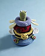 Free Crochet Pattern:  Pond friends stacking toy