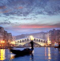 We take an evening gondola ride on the Grand Canal our last night in Venice. #monogramsvacation