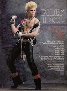 Billy Idol, Steve Stevens, Lost Song, Fantasy Art Men, Joan Jett, I Have A Crush, Post Punk, Glam Rock, New Wave