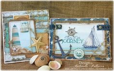 Nautical Cards with NEW BoBunny 'Boardwalk' Collection!!