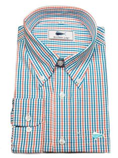 Our classic fit Blue and Coral Plaid Sport Shirt intersects our favorite coastal colors. https://www.southernlure.com/collections/sports-shirts/products/blue-and-coral-plaid-sport-shirt