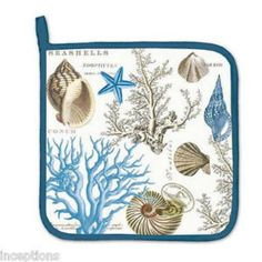 KITCHEN Potholder ~ BY THE SEASHORE ~ Michel Design Works (NEW)
