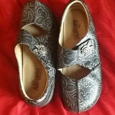 Shoes Black and silver Alegria shoes barely worn Shoes Mules & Clogs
