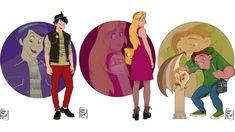 Extensive disney university series takes classic characters and puts them i Disney Art, Disney Movies, Walt Disney, Disney Couples, Disney Stuff, Cartoon Network Adventure Time, Adventure Time Anime, Classic Disney Characters, Fictional Characters