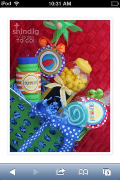A fun basket for summer fun almost anywhere