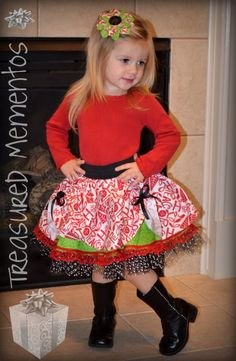 Child Christmas skirt