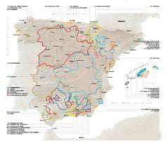 Mapa Zonas Vinícolas de España - I.G.P.