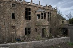 Spooky: This manor house in Hampole, near Doncaster, has been abandoned for nearly 20 years