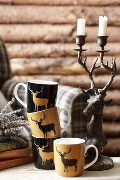 Christmas coffee mugs.