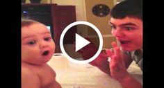 Baby Is Amazed By Simple Magic Trick