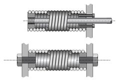 The coils on tension springs can have thread fitting.
