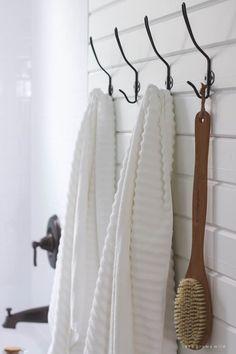 Bathroom Makeover Week The Reveal Bathroom Towel Hooks, Downstairs Bathroom, Bathroom Renos, Small Bathroom, Bathroom Ideas, White Bathrooms, Luxury Bathrooms, Master Bathrooms, Dream Bathrooms