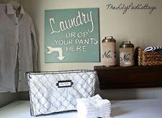 Hometalk :: Laundry Room Sign