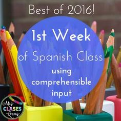 week of Spanish Class using CI - Mis Clases Locas Days specific activities Spanish Teaching Resources, Spanish Activities, Spanish Language Learning, Class Activities, Classroom Activities, Preschool Spanish, Spanish Worksheets, Vocabulary Activities, Language Lessons