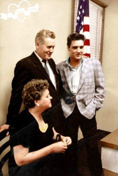 Elvis and his mom and dad