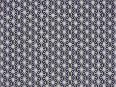 Dark Navy Hemp Leaves 'Asanoha' Motif Cotton Gauze Tenugui Japanese Fabric w/Free Shipping