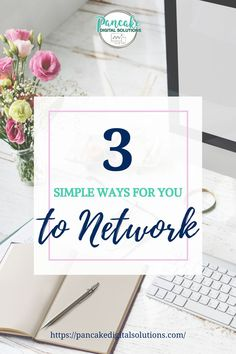 3 simple ways for you to network like a boss babe. If you are a woman entrepreneur, business owner, work at home mom, or own a handmade business and are looking to expand your network without being fake, then click for 3 simple tips & ideas on how you can start networking for your business today! Building business relationships is a great way to gain leads, clients, customers, & referrals. #pancakedigitalsolutions #networking #businessnetworking #collaborate