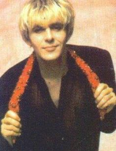 Nick with red scarf Nick Rhodes, Simon Le Bon, Amazing Songs, Red Scarves, Great Bands, The Man, Concert, People, Beautiful