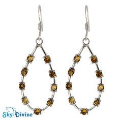 Sky Divine | 925 Sterling Silver Citrine Earring , $78.67 (http://www.skydivine.com.au/925-sterling-silver-citrine-earring-sdaer24-skydivine-jewellery/)