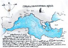 L'architetto, intervistato da Repubblica, ci regala un suo disegno del Mediterraneo. E chiede ai lettori di immaginare e metterci la vostra Italia