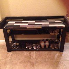 DIY Pallet Entry Bench / #Shoe #Rack | 101 Pallets