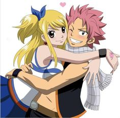 Natsu and Lucy from Fairy Tail.  Google Image Result for http://images5.fanpop.com/image/photos/25500000/Natsu-X-Lucy-Forever-3-natsu-dragneel-25559554-720-709.jpg