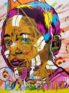 "Saatchi Online Artist: James DrZ Zdaniewski; Paint, 2011, Mixed Media """"Que Lastima"""""
