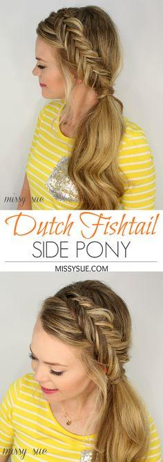 Dutch Fishtail Side Pony