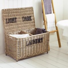 Wicker Laundry Basket - View All Bathroom - Bathroom. Graham and green.