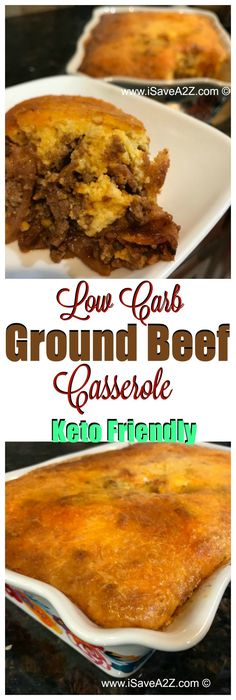 Low Carb Ground Beef Casserole that's KETO Friendly!! via @isavea2z