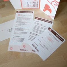 Boarding pass wedding invitation inserts
