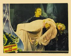 Bela Lugosi and Ilona Massey - lobby card for  Frankenstein Meets the Wolf Man (1943)