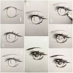 curtidas, 24 comentrios - Ivy s diary (ivyesre) no (Anime eye drawing tutorial step by step.) The steps thats going to be explained, goes in order Eye Drawing Tutorials, Sketches Tutorial, Eye Tutorial, Drawing Techniques, Drawing Tips, Art Tutorials, Drawing Ideas, Drawing Reference, Manga Tutorial