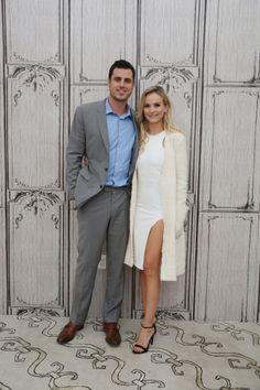 Ben Higgins and Lauren Bushnell discuss 'The Bachelor' at AOL Studios in New York.                         via @AOL_Lifestyle Read more: http://www.aol.com/article/2016/03/15/get-the-look-lauren-bushnells-gorgeous-white-outfit-for-aol-bu/21328268/?a_dgi=aolshare_pinterest