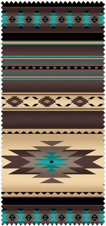 Native Saddle Blanket-Sepia Fabric