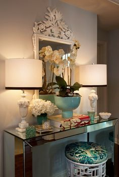 The Decorista-Domestic Bliss: Decorating ideas: entryway console magic
