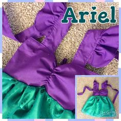 Ariel Inspired Girls Toddler Baby and Infant by PhillipAndFelicity